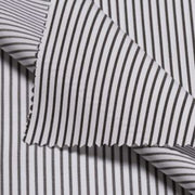 TWILL ROYAL Olive Black Fine Stripe Short/Long Sleeve Custom Cotton Shirt