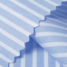 CENTURY Alice Blue Stripe Short/Long Sleeve Custom Cotton Shirt