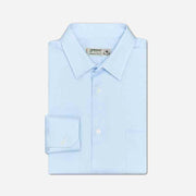 Getzner Canal Blue Pique Cotton Customized Dress Shirt