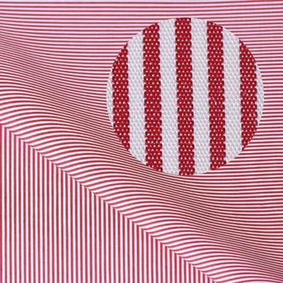 REGENT Dark Red Fine Stripe Short/Long Sleeve Custom Cotton Shirt