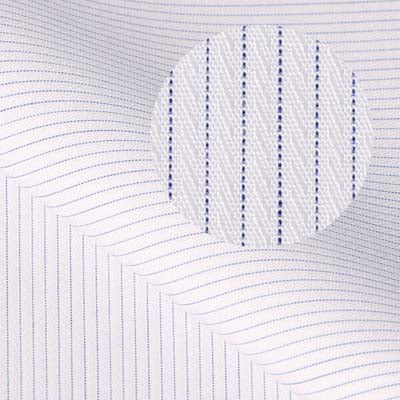 DIAMOND White Purple Fine Stripe Embroidered Short/Long Sleeve Custom Cotton Shirt