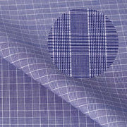 MONTEREY PLUS Purple Check Short/Long Sleeve Custom Cotton Shirt