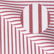 CENTURY Red Fine Stripe Short/Long Sleeve Custom Cotton Shirt