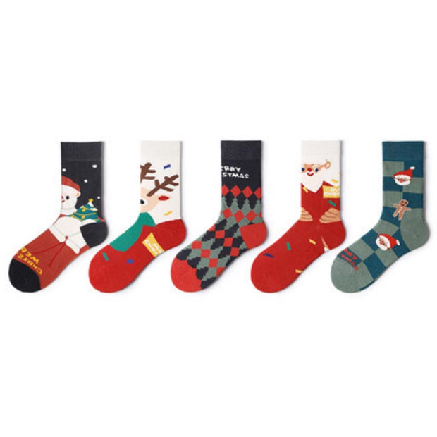 Christmas Colorful Socks Gift Box 1