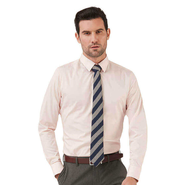 Crystal Pink Bamboo Fiber Customized Dress Shirt