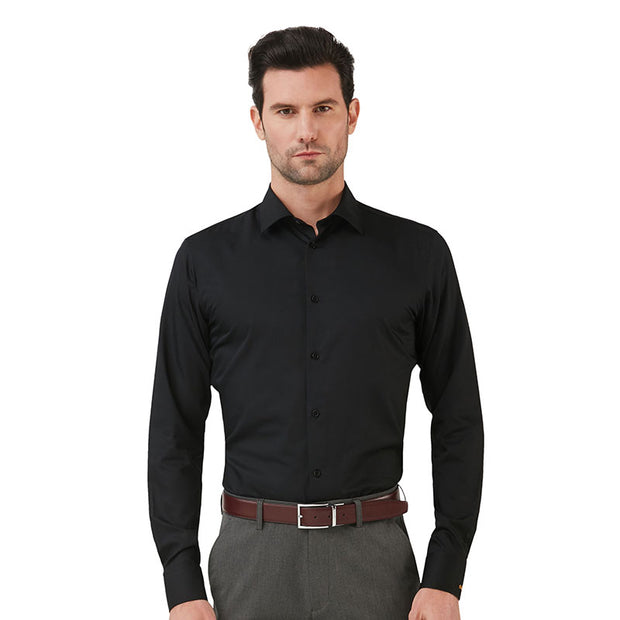 Knight Black Bamboo Fiber Customized Dress Shirt