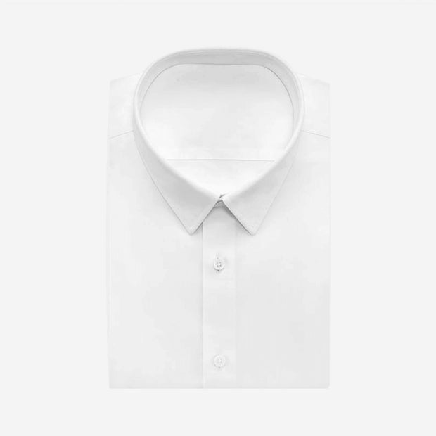 Non-Iron White Twill Cotton Customized Dress Shirt