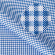 CENTURY Royal Blue Mini Checkered Short/Long Sleeve Custom Cotton Shirt