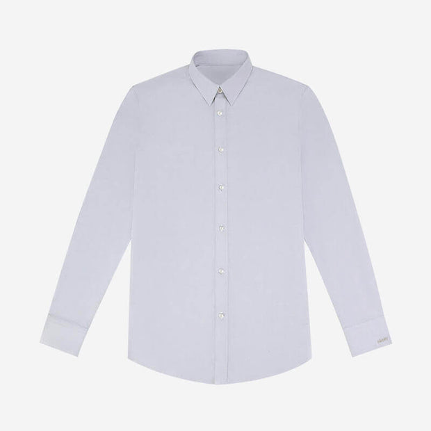 Smoky Grey Double-sided Brushed Oxford Customized Dress Shirt