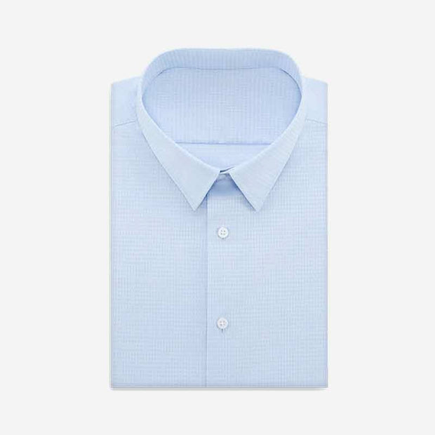 Turner Blue Triangle Houndstooth Cotton Customized Dress Shirt