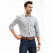 Twilight Grey Double-sided Brushed Oxford Customized Dress Shirt