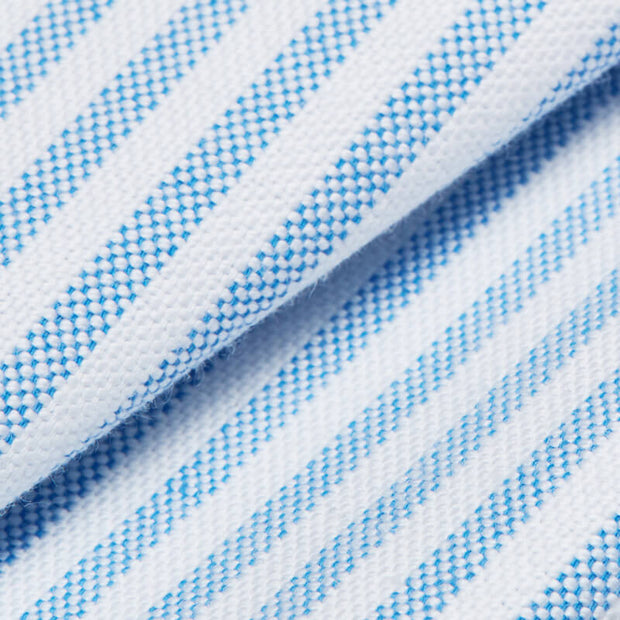Sky Blue Stripe Oxford Customized Dress Shirt