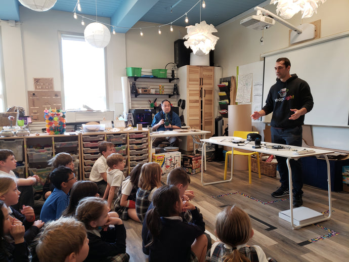 HoopLight Team Visits St Michael's University School's Imagination Lab!