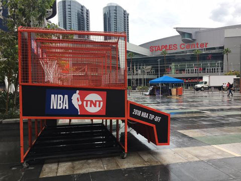 Basketball Hoop Arcade Game at Staples Centre in LA