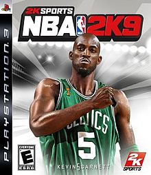 Cover of video game NBA 2K9 with Kevin Garnet