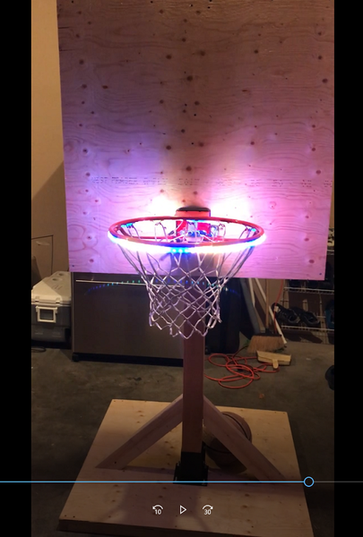 hoop light on mini hoop