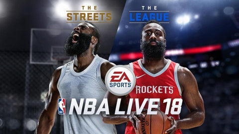 James Harden on NBA Live 18 Cover
