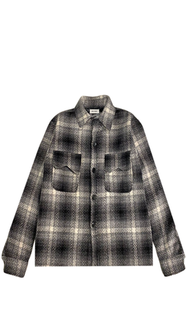 HEAVY GREY WOOL FLANNEL
