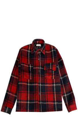 HEAVY RED WOOL FLANNEL