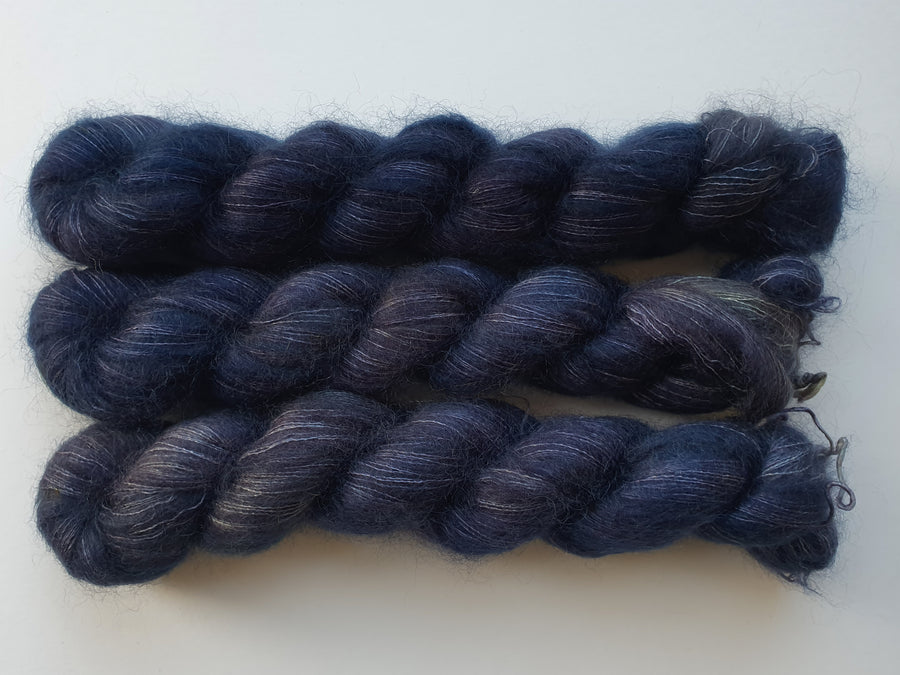shadows - kidsilk lace - hand dyed 2 ply wool mohair silk - 50g
