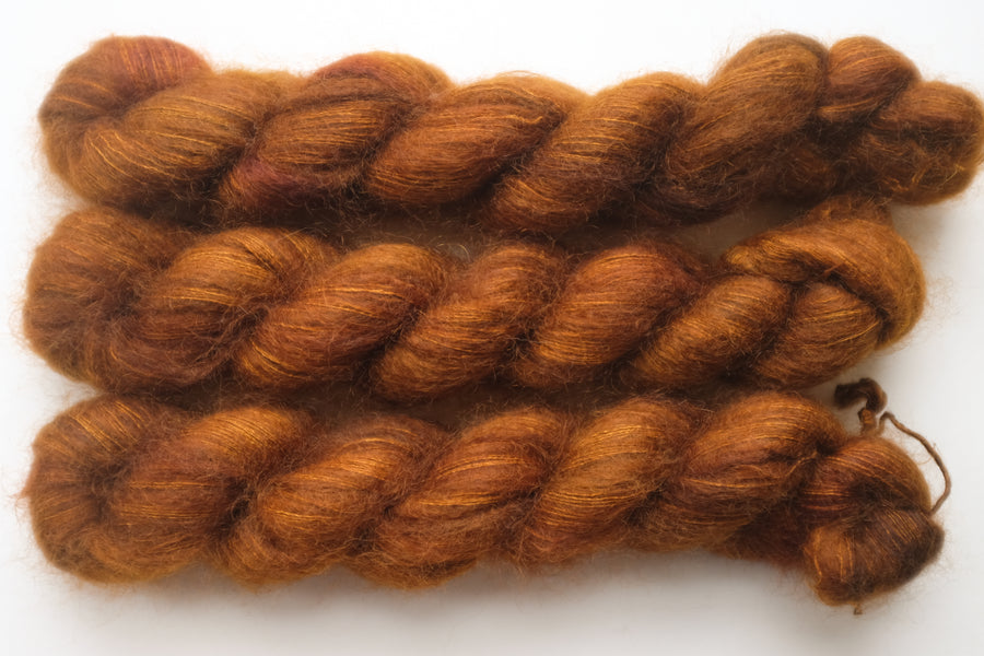 penny - kidsilk lace - hand dyed 2 ply wool mohair silk - 50g
