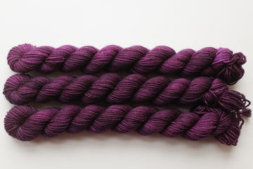 blackberry - sock minis - hand dyed merino yarn fingering 4ply - 100g