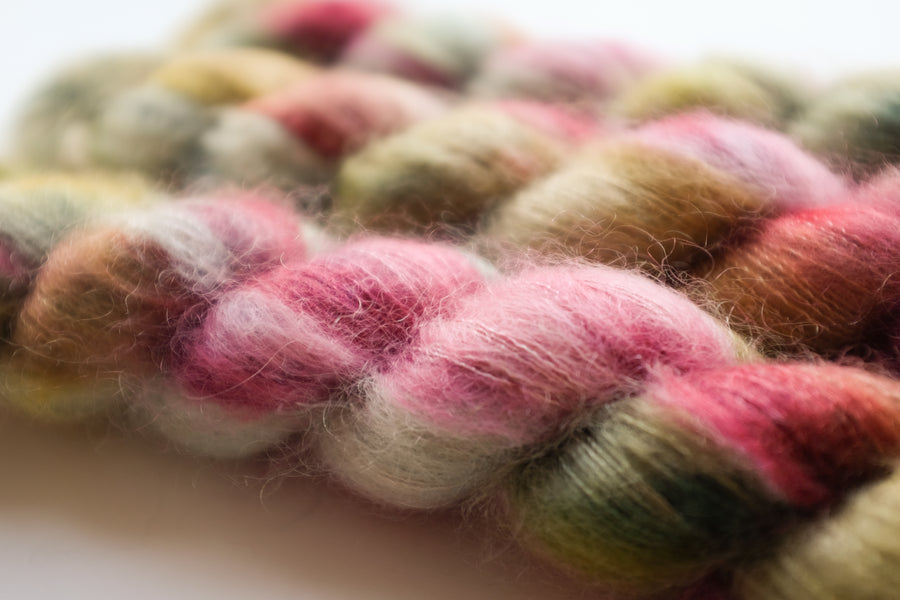 harmony - kidsilk lace - hand dyed 2 ply wool mohair silk - 50g