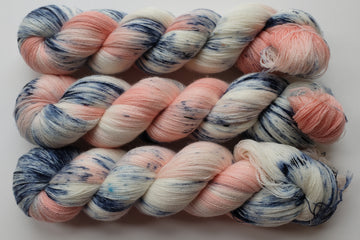 afternoon tea - merino lace yarn - hand dyed 2 ply wool - 100g