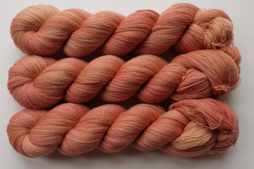 peachy keen - merino lace yarn - hand dyed 2 ply wool - 100g