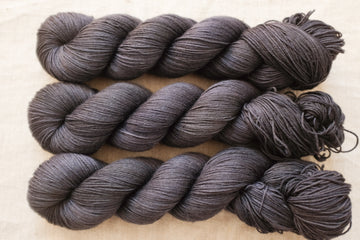 smoke - sock blend - 4ply fingering hand dyed yarn - 100g