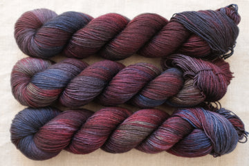 night watch - sock blend - 4ply fingering hand dyed yarn - 100g