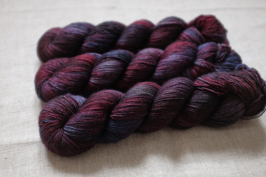night watch - merino singles -  hand dyed yarn 4ply fingering - 100g