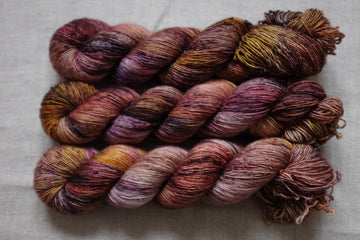 DYED TO ORDER tobacco - merino singles -  hand dyed yarn 4ply fingering - 100g