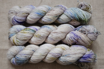wildflowers - merino singles -  hand dyed yarn 4ply fingering - 100g