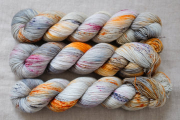 coast - sock blend - 4ply fingering hand dyed yarn - 100g