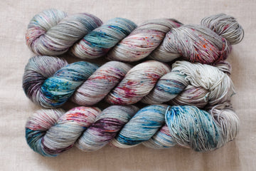 meadow walk - sock blend - 4ply fingering hand dyed yarn - 100g