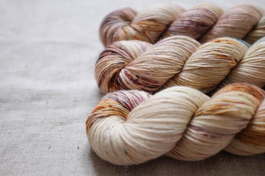 chai latte - sock blend - hand dyed yarn 4ply fingering sock - 100g
