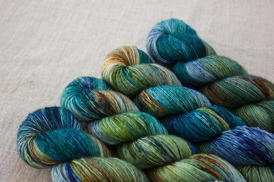 highlands - merino singles -  hand dyed yarn 4ply fingering - 100g