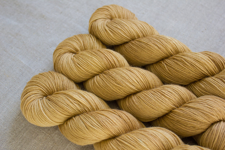 salted caramel - sock blend - 4ply fingering hand dyed yarn - 100g
