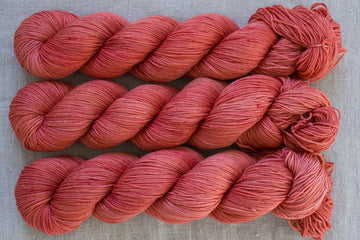 rhubarb - sock blend - hand dyed merino yarn fingering 4ply - 100g