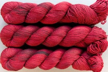 bordeaux - sock blend - 4ply fingering hand dyed yarn - 100g