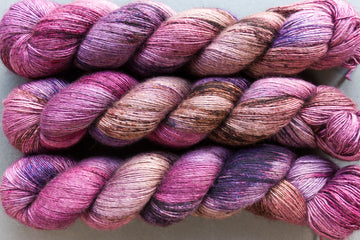 fable - yak silk singles - 4ply fingering hand dyed yarn - 120g