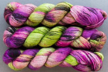fever ray - yak lace - single ply hand dyed lace yarn - 100g