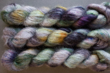bamboo grove - kidsilk lace - hand dyed 2 ply wool mohair silk - 50g