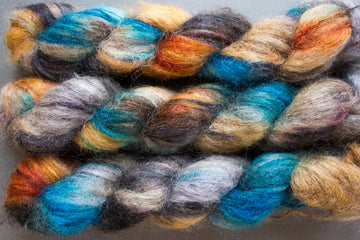 koi - kidsilk lace - hand dyed 2 ply wool mohair silk - 50g