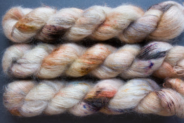 miss kisses - kidsilk lace - hand dyed 2 ply wool mohair silk - 50g