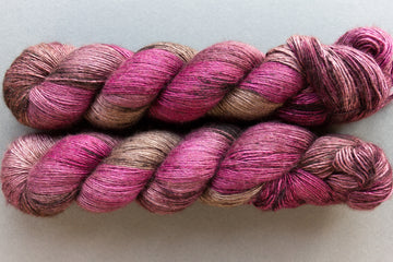 hunter - yak silk singles - 4ply fingering hand dyed yarn - 120g
