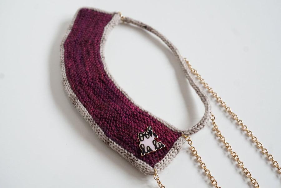 knitted necklace kit - ooh la la - hand dyed yarn