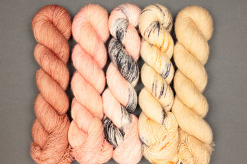 limited edition afternoon tea set - merino singles - hand dyed yarn 4ply fingering - 5 x 100g