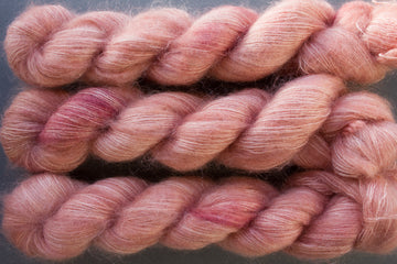 peachy keen - kidsilk lace - hand dyed 2 ply wool mohair silk - 50g